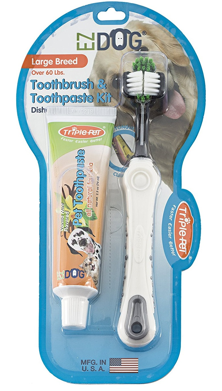 EZ Dog Toothbrush Kit by Triple Pet