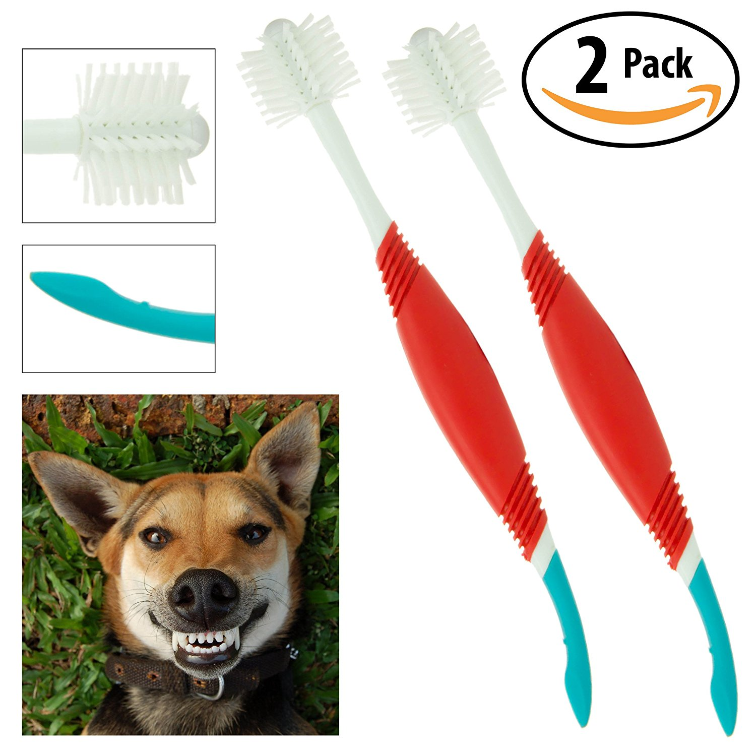 Petrodex Dog 2-in-1 Toothbrush & Plaque Scraper