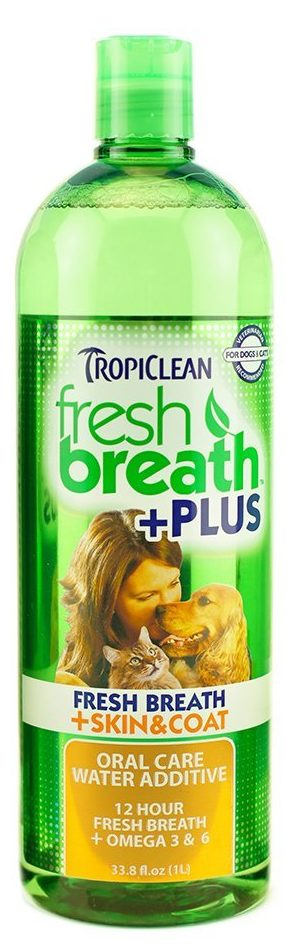 TropiClean Fresh Breath Water Additive Plus Skin and Coat