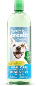 TropiClean Fresh Breath Plus Digestive Support Water Additive For Dogs