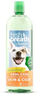 Tropiclean Fresh Breath Plus Skin and Coat Water Additive For Dogs